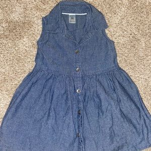 Carters Baby Girl Dark Chambray Dress